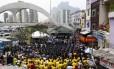 Parte dos 700 policiais que vão atuar na UPP da Rocinha participou da inauguração da unidade nesta quinta-feira