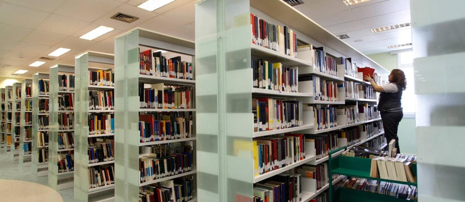 A biblioteca do Centro Cultural Banco do Brasil (CCBB), reabrirá após dois meses fechada Foto: Ana Branco / O Globo