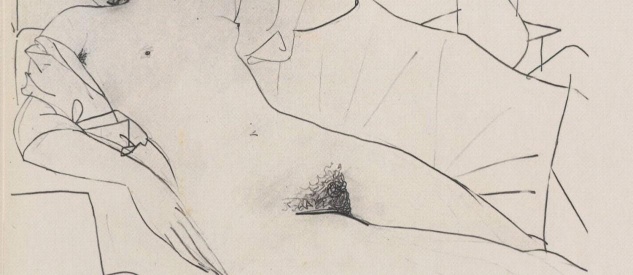 'Odalisque', obra de 1951 de Pablo Picasso Foto: Terceiro / Reprodução