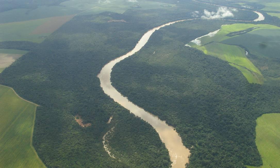 Problema futuro. Bacia do Teles Pires: desmatamento pode reduzir volume de chuvas no país Foto: Viviane Brandão/ANA