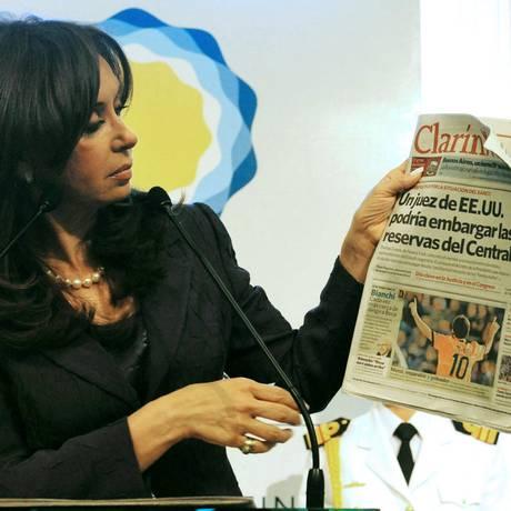 A presidente da Argentina, Cristina Kirchner Foto: AFP