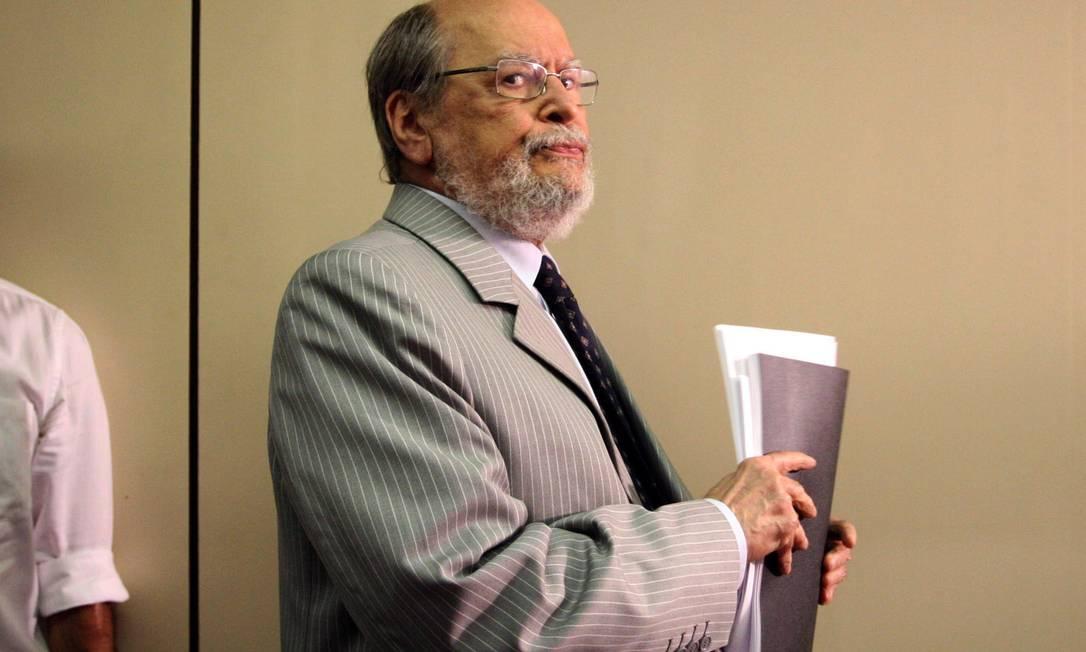 Sepúlveda Pertence renuncia à presidência da Comissão de Ética Pública Foto: Arquivo O Globo 12/09/2011 / Givaldo Barbosa