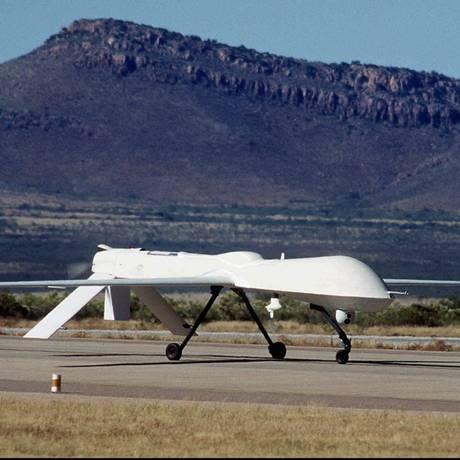 Um drone americano do tipo Predator em área de testes no Arizona Foto: Ben Sanders / AP