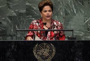 Dilma pede reformas na ONU e no Conselho de Segurança em discurso na Assembleia Geral Foto: AP