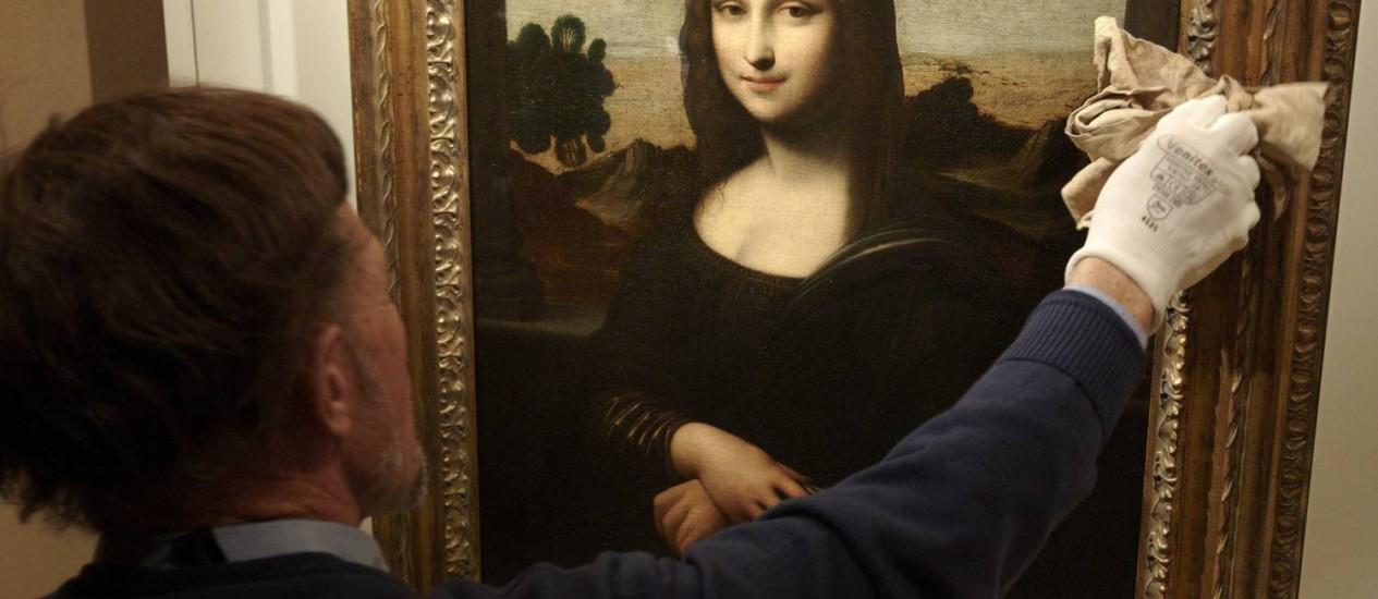 Outra versão da 'Mona Lisa', de Da Vinci, será apresentada em Genebra Foto: Reuters