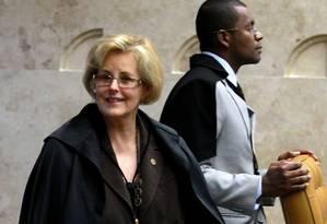 A ministra Rosa Weber Foto: Ailton de Freitas / O Globo