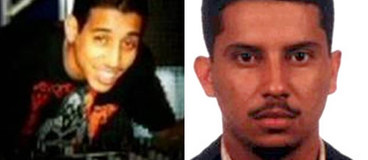 À esquerda, Dj Chorão, desaparecido desde sábado; já à direita, Jorge Luiz Moura, o Alvarenga, chefe do tráfico que teria ordenado a execução do DJ Foto: Reprodução