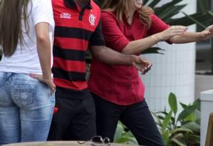 Vágner Love e Patrícia Amorim Foto: Photo Rio News / Carlos Osmar