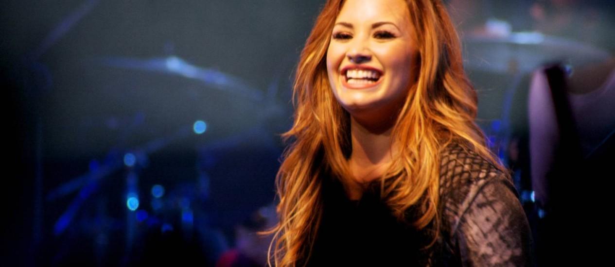 Demi Lovato em show de sua turnê mais recente, do CD 'Unbroken' Foto: Divulgação