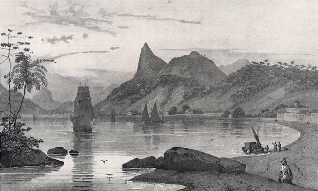 Batismo. A enseada de Botafogo no século XVI: nome herdado do apelido de artilheiro português Foto: Divulgação