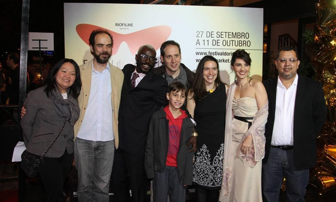 Equipe do filme 'Entre vales' Foto: Eduardo Naddar / Agência O Globo