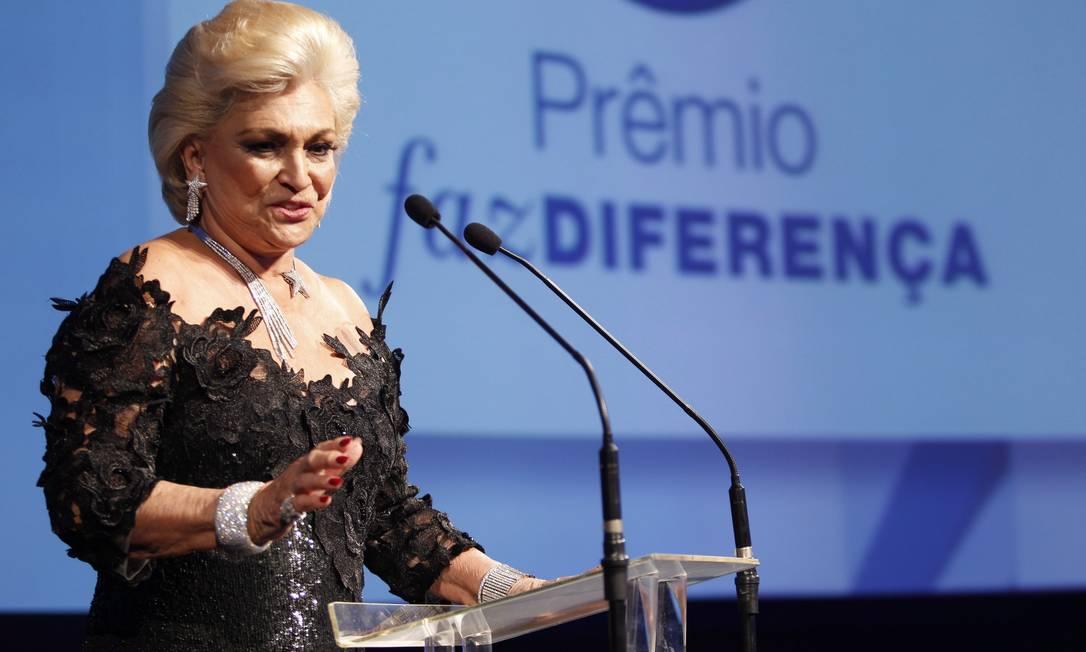 Entrega do Prêmio Faz Diferença no hotel Copacabana Palace. Hebe Camargo recebeu o prêmio Revista da TV. Foto: Agência O Globo