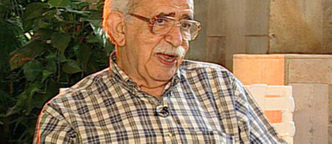 Escritor Autran Dourado Foto: Reprodução/Senado Federal