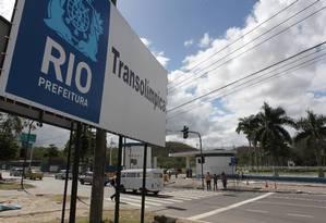 Terreno do estande de tiros da Acadepol, por onde passará o corredor Transolímpico Foto: Domingos Peixoto / O Globo