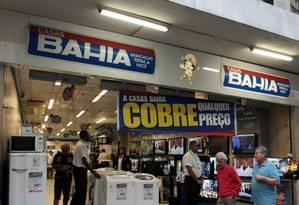 Loja das Casas Bahia da Avenida Nossa Senhora de Copacabana, no Rio Foto: Foto: Hudson Pontes / Agência o Globo.