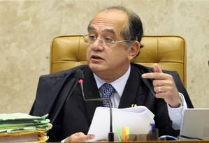 Ministro Gilmar Mendes levantou suspeita sobre doações a petistas condenados - Foto: Agência O Globo / Ailton de Freitas