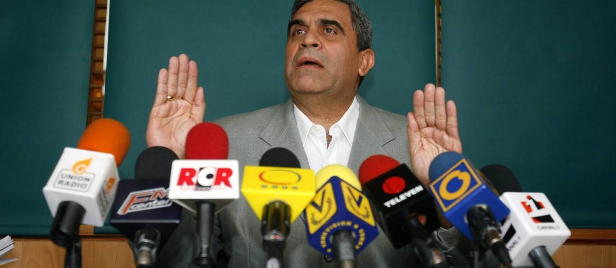 O ex ministro opositor Raúl Isaías Baduel Foto: EFE/David Fernández/Arquivo