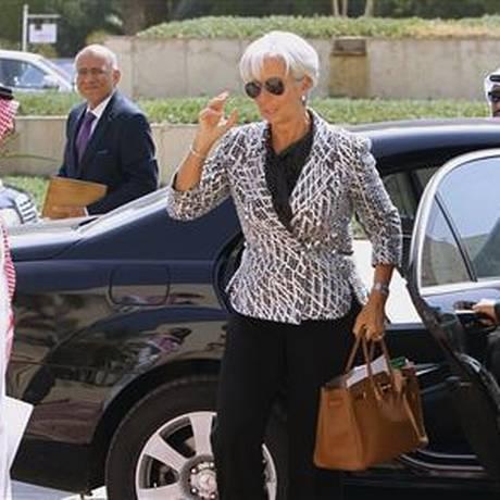 Lagarde avaliou positivamente neste sábado as negociações do FMI com a Grécia sobre programa fiscal, reformas e financiamento da dívida Foto: Reuters