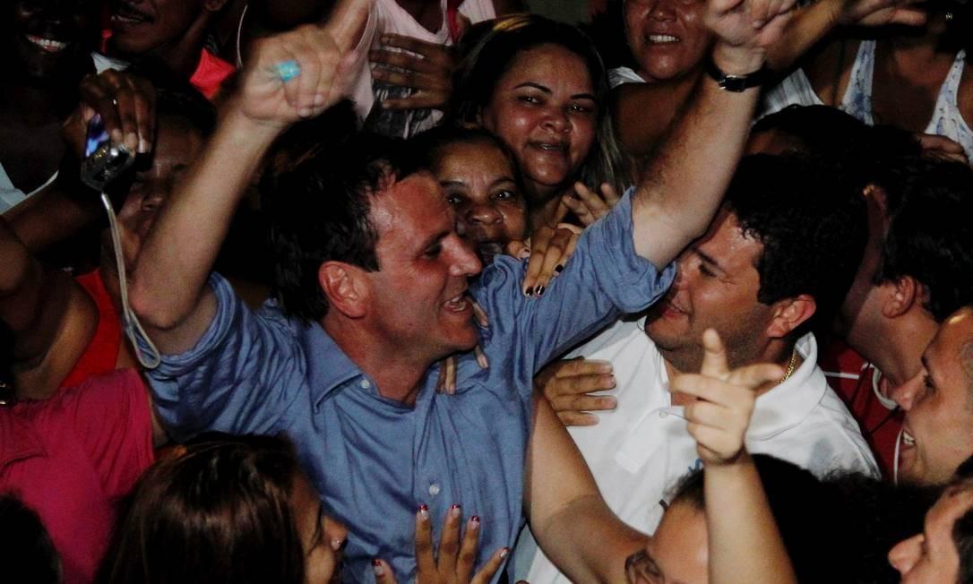 O prefeito reeleito Eduardo Paes (PMDB) no Parque de Madureira Foto: Bruno Gonzalez / EXTRA / Agência O Globo
