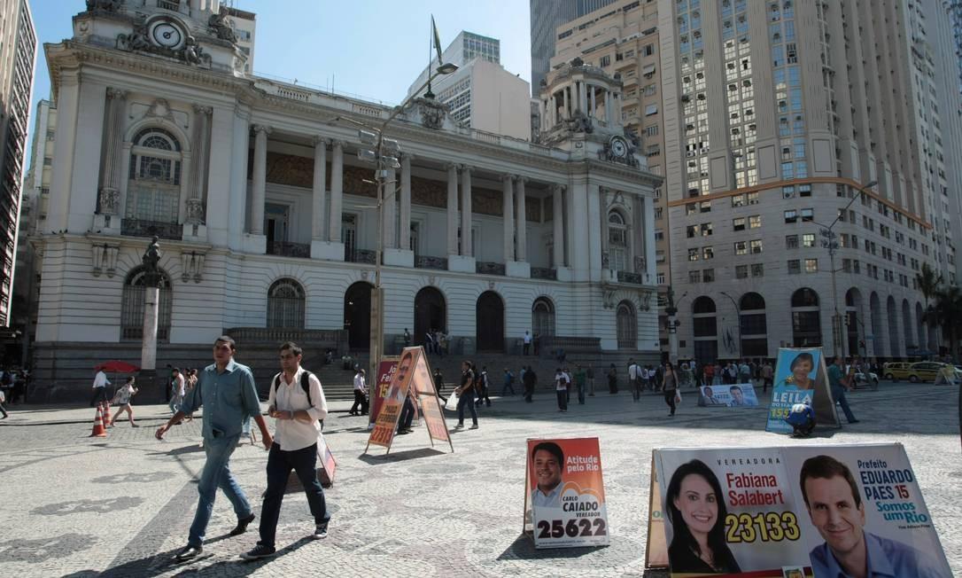 O Palácio Pedro Ernesto, no Centro do Rio Foto: O Globo / Hudson Pontes