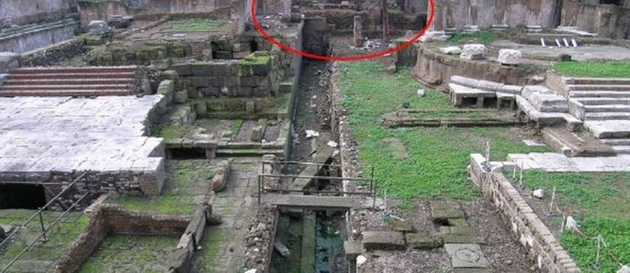 Foto mostra local exato de assassinato Foto: Reprodução/CSIC