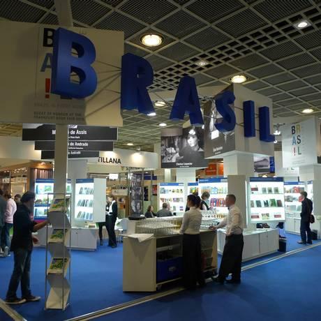 Estande brasileiro na Feira do Livro de Frankfurt Foto: Divulgação