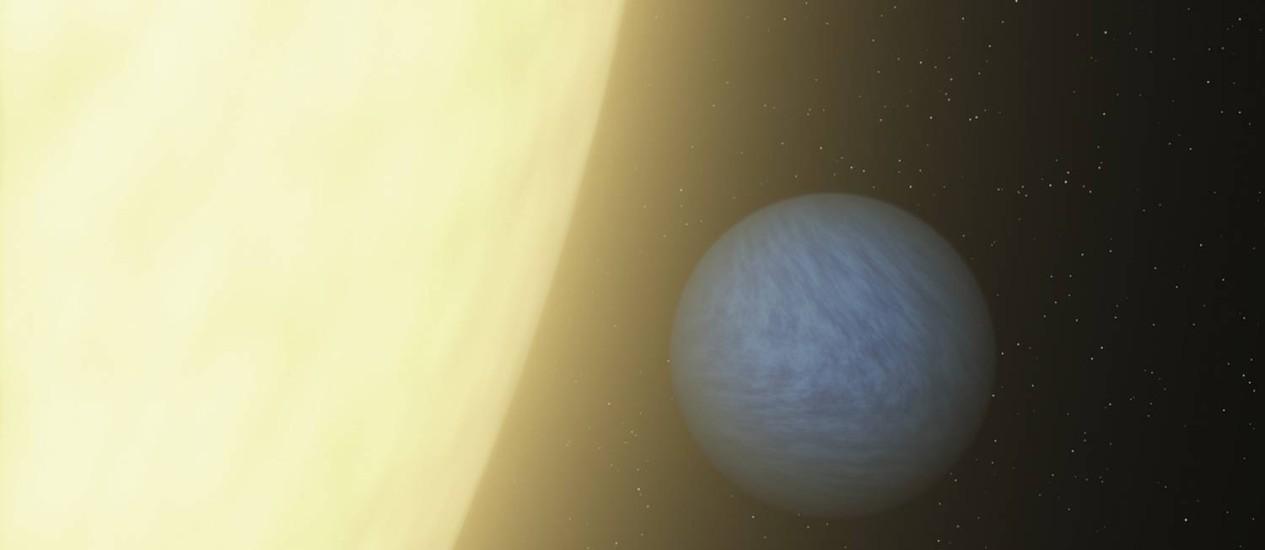 O desenho da Nasa mostra o planeta de diamante Foto: Reuters