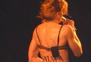 A cantora Madonna, que pintou o nome da paquistanesa nas costas Foto: Reprodução/Instagram