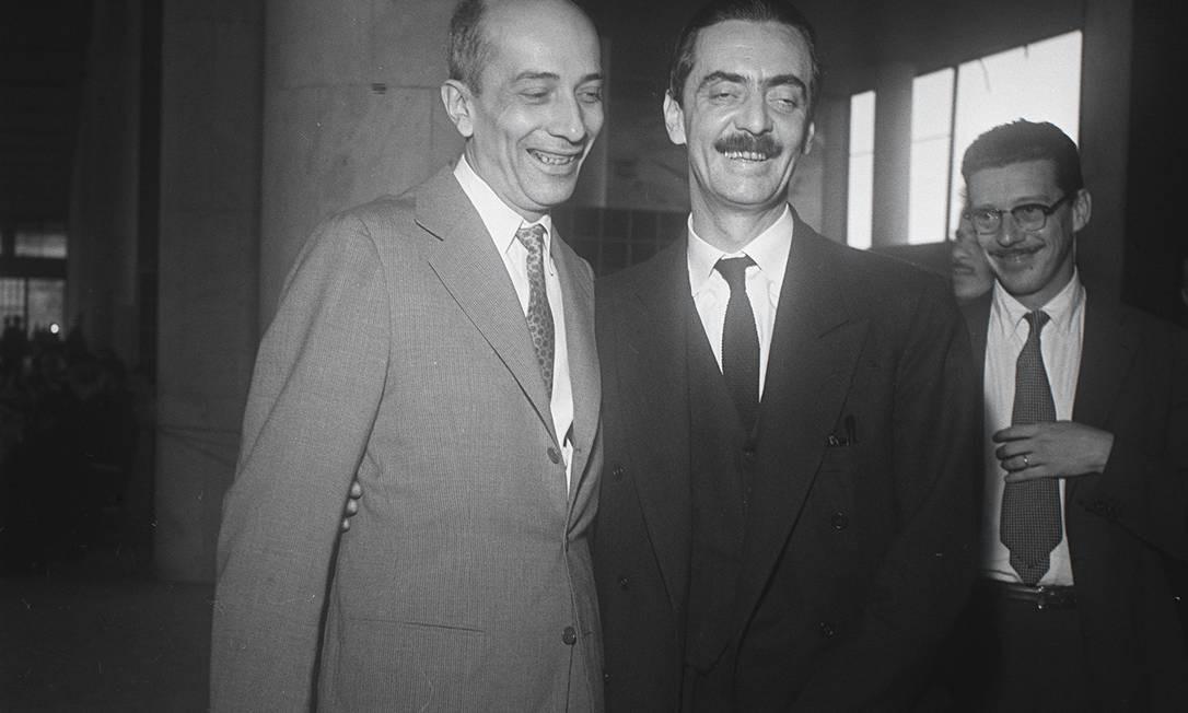 (02/07/1957) - Ulysses Guimarães com Jânio Quadros Foto: Arquivo O Globo