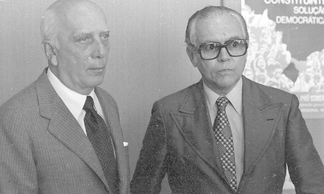 (18/04/1978) Lançamento da candidatura de Rômulo de Almeida para o Senado pela Bahia Foto: Arquivo O Globo