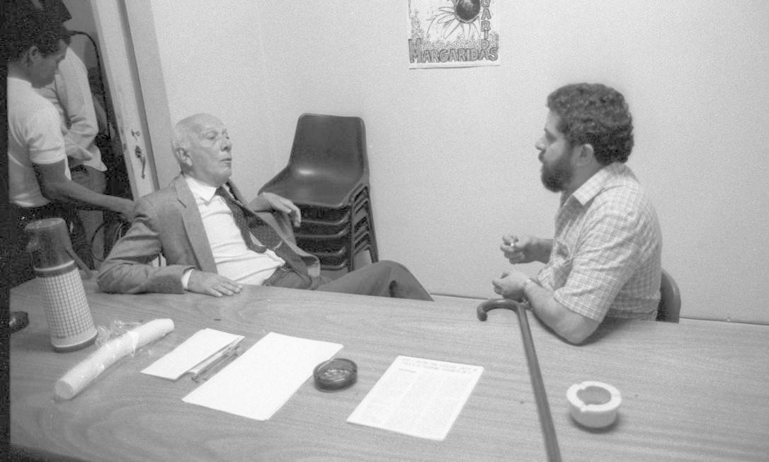 (7/05/1984) Luiz Inácio Lula da Silva e Ulysses Guimarães Foto: Arquivo O Globo