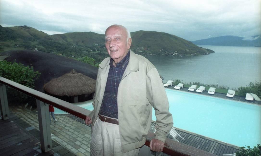 (09/10/1992) Ulysses Guimarães no Hotel Portogalo, em Angra, dias antes do acidente de helicóptero Foto: Arquivo O Globo