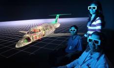 Quase ficção. Engenheiros do Centro de Realidade Virtual da Embraer, com a imagem do Phenom 100 ao fundo. Com investimentos em tecnologia, empresa tem conquistado cada vez mais mercados no exterior para seus aviões Foto: TIAGO QUEIROZ/AE