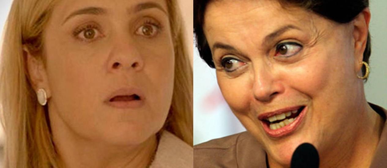 Comício com Dilma terá exibição de 'Avenida Brasil' Foto: Arte O Globo
