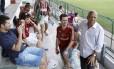 Dadá Maravilha animou o treino do Fluminense nesta quinta-feira
