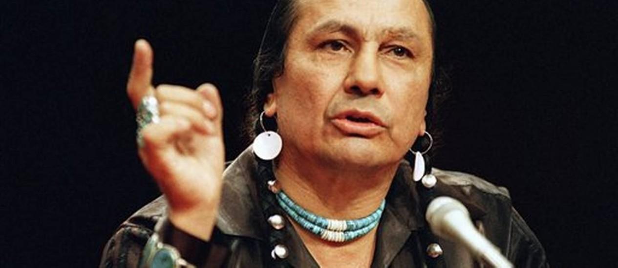 Russel Menas morre aos 72 anos Foto: AP Photo