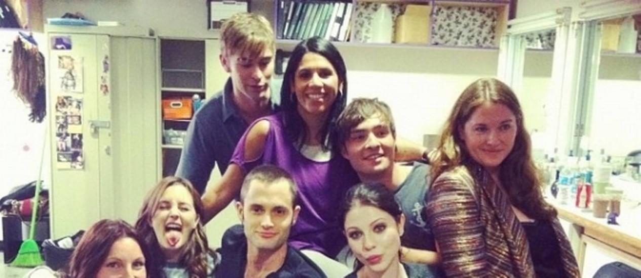 """Parte do elenco de """"Gossip Girl"""" em clima descontraído Foto: Reprodução"""