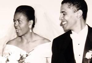 Casamento de Michelle e Obama, em 1992 Foto: Reprodução/Internet