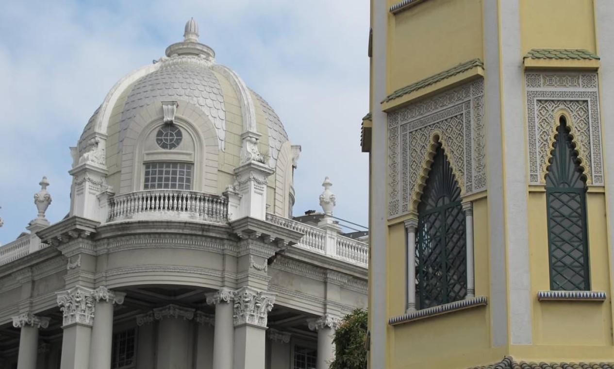 Detalhes da arquitetura do centro de Guayaquil. Foto: Eduardo Maia / O Globo