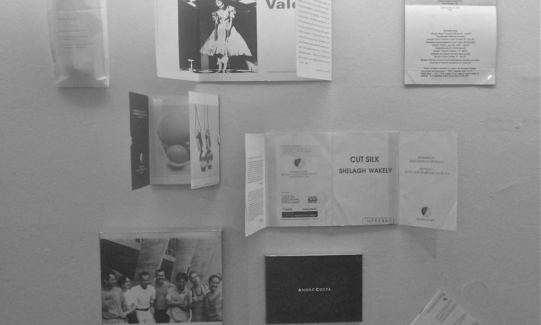 Memória individual. Artistas cederam documentos para compor a mostra Foto: Divulgação / Marta Mestre
