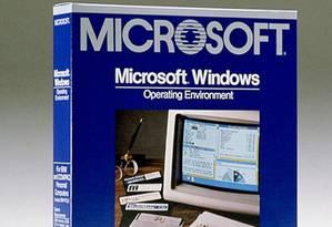 Caixa do Windows 1.0 Foto: Divulgação/Microsoft
