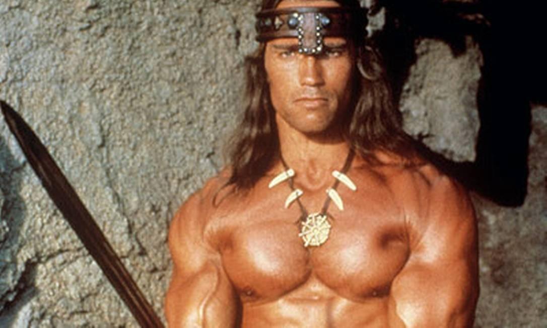 Schwarzenegger como Conan no filme de 1982 Foto: Reprodução