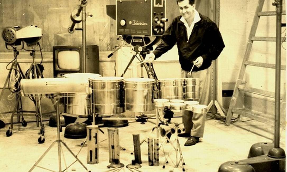 Pedro Santos na TV TVExcelsior em 1962 Foto: Álbum de família