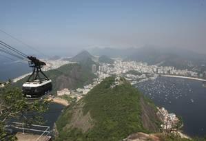 O Bondinho do Pão de Açúcar, que completou 100 anos Foto: Eduardo Naddar / O Globo