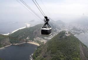 O fotógrafo Felipe Hanower chegou ao cume do Pão de Açúcar em seis minutos Foto: Felipe Hanower / O Globo