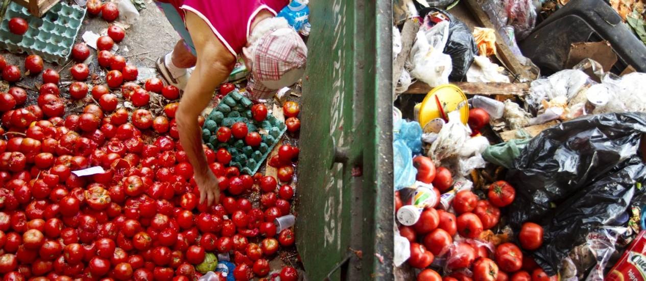 Brasil. O volume de alimento no lixo é de 26,3 milhões de toneladas anuais Foto: Márcia Foleto