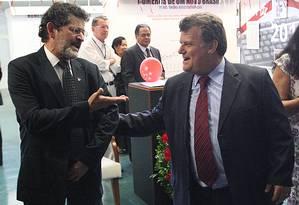Réus absolvidos por lavagem de dinheiro pelo STF: Paulo Rocha e Professor Luizinho Foto: Agência O Globo / André Coelho
