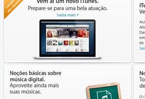 Site da Apple anuncia novo iTunes para o mês de novembro Foto: Reprodução