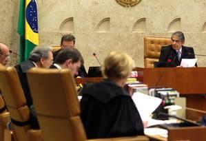Ayres Britto, presidente do STF: leis estaduais estão em sintonia com Constituição Foto: Givaldo Barbosa / Agência O Globo