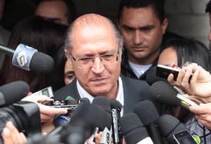 O governador de São Paulo, Geraldo Alckmin Foto: Eliária Andrade / Arquivo O Globo